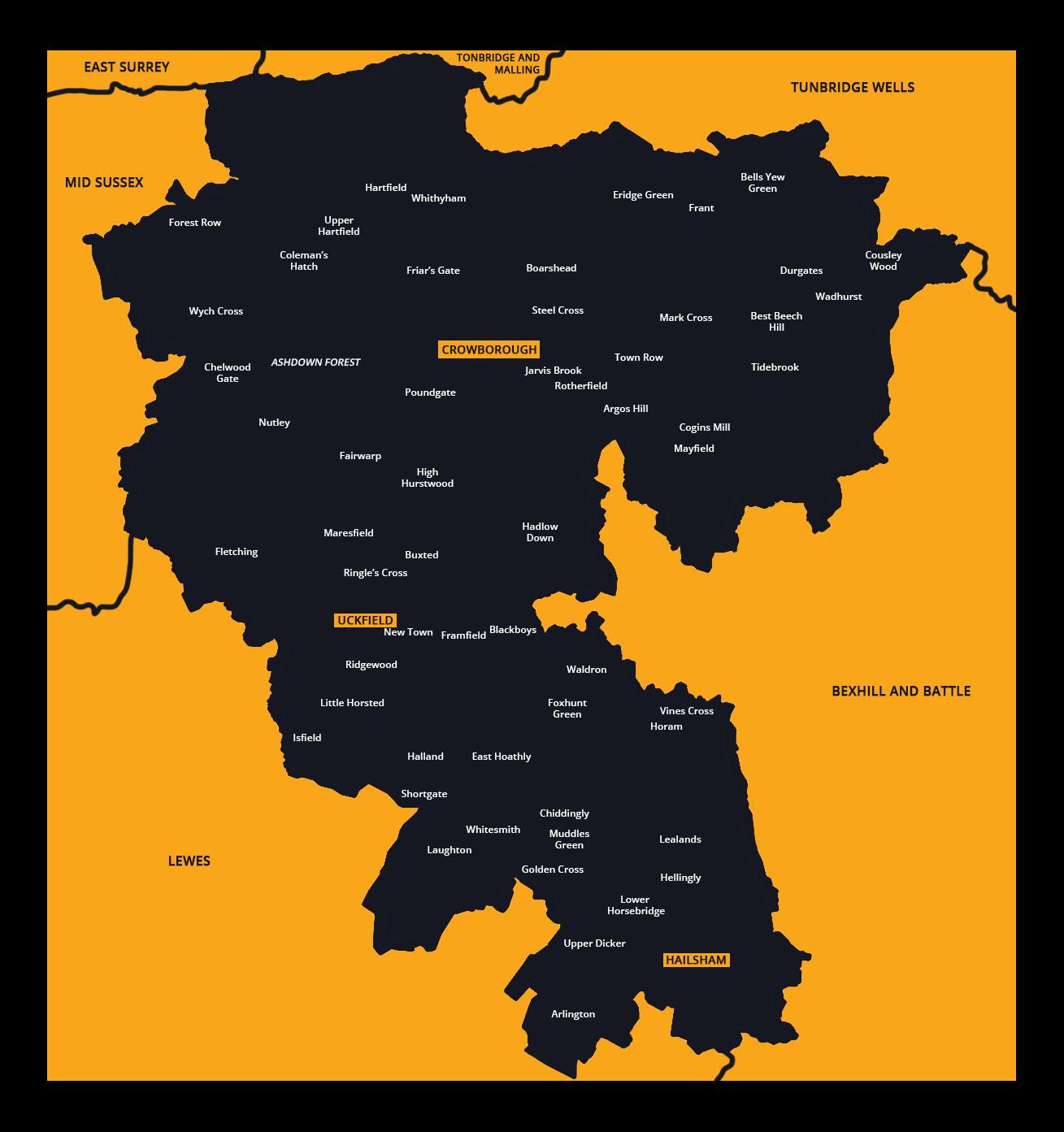 Wealden Constituency Map