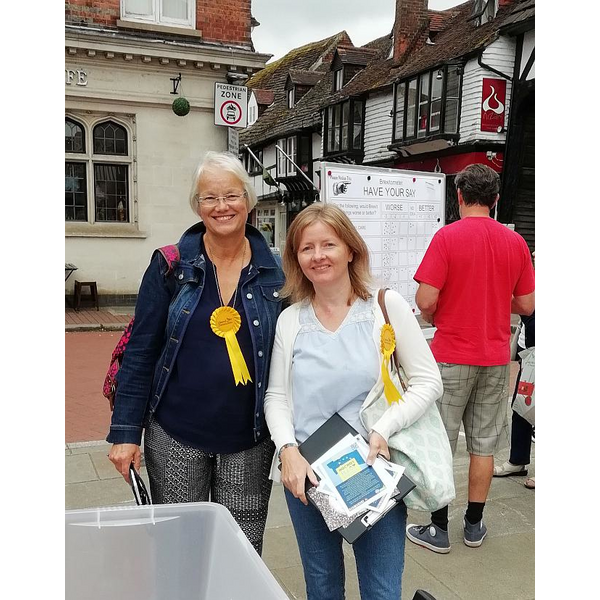 Members of Wealden LibDems at the pro EU stand in East Grinstead