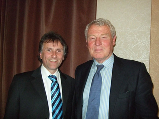 Chris Bowers with Paddy Ashdown in 2008