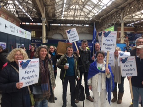 Sussex For Europe and Wealden LibDems at Victoria Station before the march