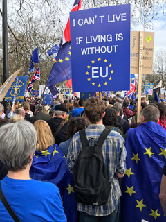 Can't Live If Living Is Without EU sign