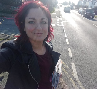 Roanna Brewer campaigning in Pevensey Bay