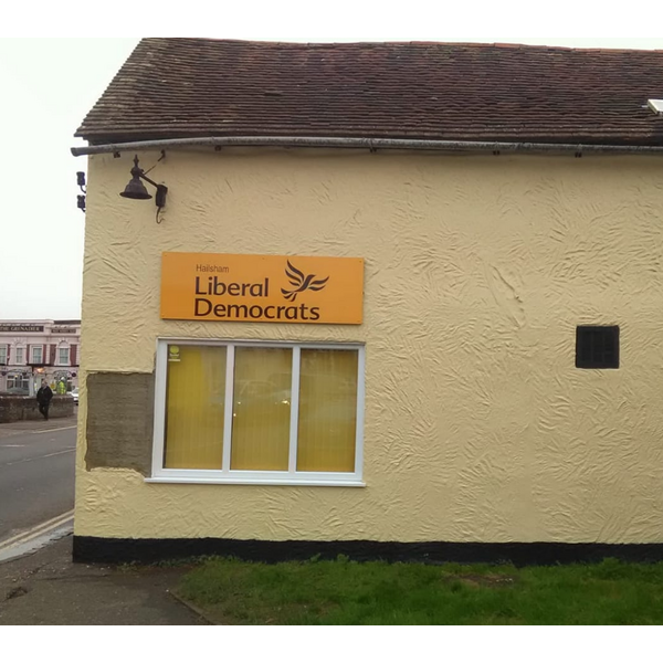 The Hailsham LibDem HQ repaired and repainted by Steve Murphy Oct 23, 2019