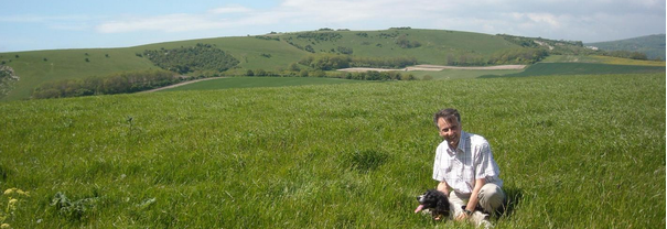 Wealden PC Chris Bowers & his dog Petra - self-isolating on the South Downs (in 2019 before it was actually a thing)