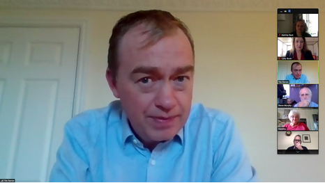 Tim Farron MP speaking at our virtual AGM Nov 2020