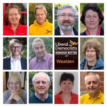 Wealden Lib Dem County Council candidates - May 6, 2021
