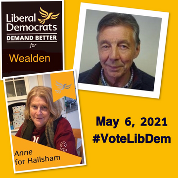 Wealden Lib Dem District Council candidates for Hailsham by-elections - May 6, 2021