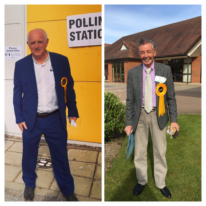 Steve Murphy (left) and Paul Holbrook (right) newly elected LibDem councillors May 2021