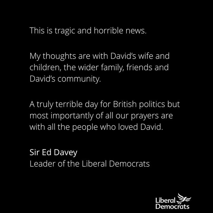 Statement by Ed Davey
